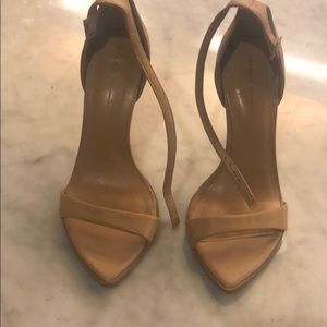 Zara nude sandal heels